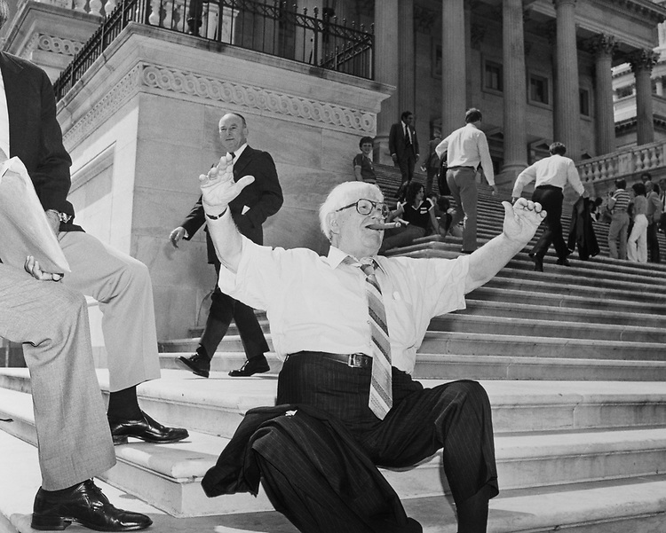 Rep. Edward J. Patten, D-N.J., sitting on Capitol Hill. 1975 (Photo by CQ Roll Call)