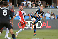 San Jose, CA - Wednesday June 13, 2018: Magnus Eriksson during a Major League Soccer (MLS) match between the San Jose Earthquakes and the New England Revolution at Avaya Stadium.