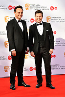 Anthony McPartlin and Declan Donnelly <br /> at Virgin Media British Academy Television Awards 2019 annual awards ceremony to celebrate the best of British TV, at Royal Festival Hall, London, England on May 12, 2019.<br /> CAP/JOR<br /> ©JOR/Capital Pictures
