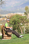 Jose Manuel Lara (ESP) waits on the 17th tee on Day 1 of the 2012 Open de Andalucia Costa del Sol at Aloha Golf Club, Marbella, Spain....(Photo Jenny Matthews/www.golffile.ie)