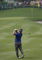 Andy Sullivan (ENG) approach shot to the 9th during the Final Round of the 2014 Maybank Malaysian Open at the Kuala Lumpur Golf & Country Club, Kuala Lumpur, Malaysia. Picture:  David Lloyd / www.golffile.ie