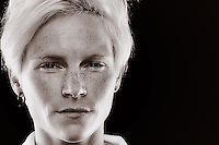 Welsh national captain Fishlock arrived as Victory's fourth foreign import, and has made a huge impression since signing on as a guest player for the team. The peroxide blonde midfielder is something of a pocket dynamo in midfield, running the opposition to the point of exhaustion during games while hardly appearing to be suffering at the same time. //  The 25 year old represents English side Bristol Academy in the FA WSL and was also named the FA Player's Player of the Year after a storming 2012 season. //  (Copyright Photo Sydney Low. Text Zee Ko)