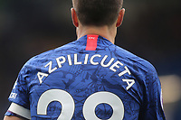 The design of the back of the Chelsea home kit for Season 2019/20 as worn by Cesar Azpilicueta during Chelsea vs Watford, Premier League Football at Stamford Bridge on 5th May 2019