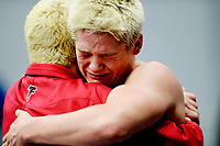 Fauquier's Franco Camarca is emotional after winning a state title at the 4A State Wrestling Championships in Salem, VA.