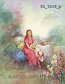 Interlitho, Sue Allison, TEENAGERS, paintings, lady, bank, hat(KL3258/2,#J#) Jugendliche, jóvenes, illustrations, pinturas ,everyday