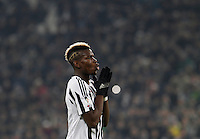 Calcio, semifinali di andata di Coppa Italia: Juventus vs Inter. Torino, Juventus Stadium, 27 gennaio 2016.<br /> Juventus&rsquo; Paul Pogba reacts during the Italian Cup semifinal first leg football match between Juventus and FC Inter at Juventus stadium, 27 January 2016.<br /> UPDATE IMAGES PRESS/Isabella Bonotto