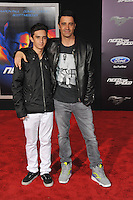 Gilles Marini &amp; son George Marini at the U.S. premiere of &quot;Need for Speed&quot; at the TCL Chinese Theatre, Hollywood.<br /> March 6, 2014  Los Angeles, CA<br /> Picture: Paul Smith / Featureflash