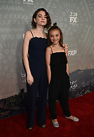 "SANTA MONICA - FEBRUARY 26: Hannah Alligood and Olivia Edward arrive at the red carpet event for FX's ""Better Things"" Season Three Premiere at the The Eli and Edythe Broad Stage on February 26, 2019 in Santa Monica, California. (Photo by Frank Micelotta/FX/PictureGroup)"