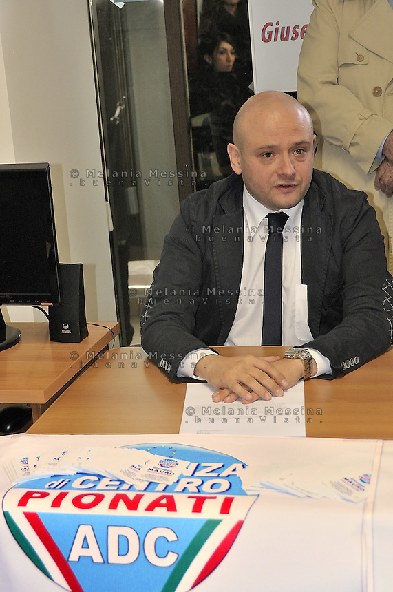 press conference in Palermo  to announce candidacy for mayor of Giuseppe Mauro..conferenza stampa di Alleanza di Centro a Palermo per annunciare la candidatura a sindaco  di Giuseppe Mauro.