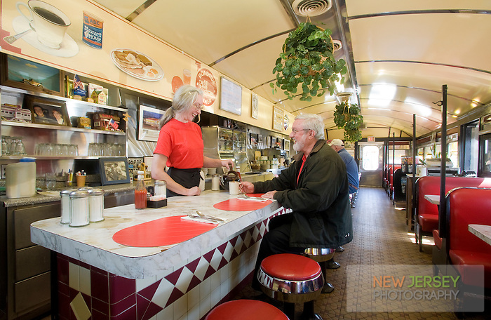 Interior of the c1930's Roadside Diner, Wall Township, New Jersey