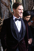 "HOLLYWOOD, CA - DECEMBER 02: Benedict Cumberbatch arriving at the Los Angeles Premiere Of Warner Bros' ""The Hobbit: The Desolation Of Smaug"" held at Dolby Theatre on December 2, 2013 in Hollywood, California. (Photo by Xavier Collin/Celebrity Monitor)"