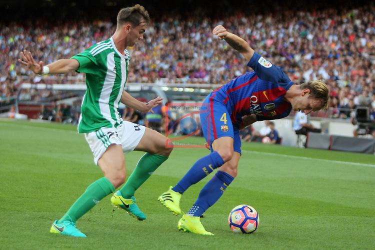 League Santander 2016/2017. Game: 1.<br /> FC Barcelona vs Real Betis: 6-2.<br /> Fabian vs Ivan Rakitic.