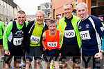 Liam Horan , John Brassil, Paschal Boylan, Maurice O'Carroll and Tony Casey  at the start of the Kerry's Eye Tralee, Tralee Half Marathon on Saturday.