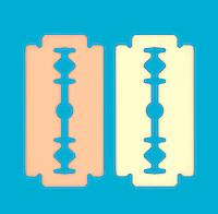 Two rasor blades