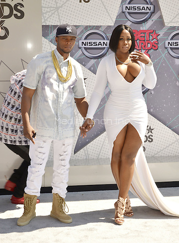 LOS ANGELES, CA - JUNE 26: Remy Ma, Papoose at the 2016 BET Awards at the Microsoft Theater on June 26, 2016 in Los Angeles, California. Credit: Koi Sojer/MediaPunch