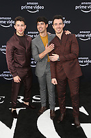 "3 June 2019 - Los Angeles, California - Nick Jonas, Joe Jonas, Kevin Jonas. Premiere Of Amazon Prime Video's ""Chasing Happiness""  held at the Regency Bruin Theater. <br /> CAP/ADM/FS<br /> ©FS/ADM/Capital Pictures"