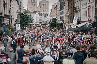 race start<br /> <br /> 2017 National Championships Belgium - Elite Men - Road Race (NC)<br /> 1 Day Race: Antwerpen > Antwerpen (233km)