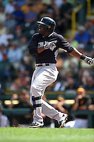 New York Yankees infielder Jose Pirela (63) during a Spring Training game against the Pittsburgh Pirates on March 5, 2015 at McKechnie Field in Bradenton, Florida.  New York defeated Pittsburgh 2-1.  (Mike Janes/Four Seam Images)