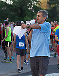 Race Director Eric Lerude during the Reno 10 Mile Run in downtown Reno on Sunday, August 13, 2017.