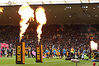 Both Team come onto the field of play during Wolverhampton Wanderers vs Brighton & Hove Albion, Premier League Football at Molineux on 7th March 2020