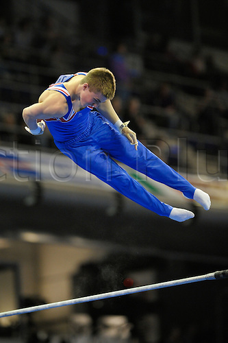 07.04.2011 European Championships Artistic Gymnastics from Berlin.Mens Qualifications.Sam Oldham of GB