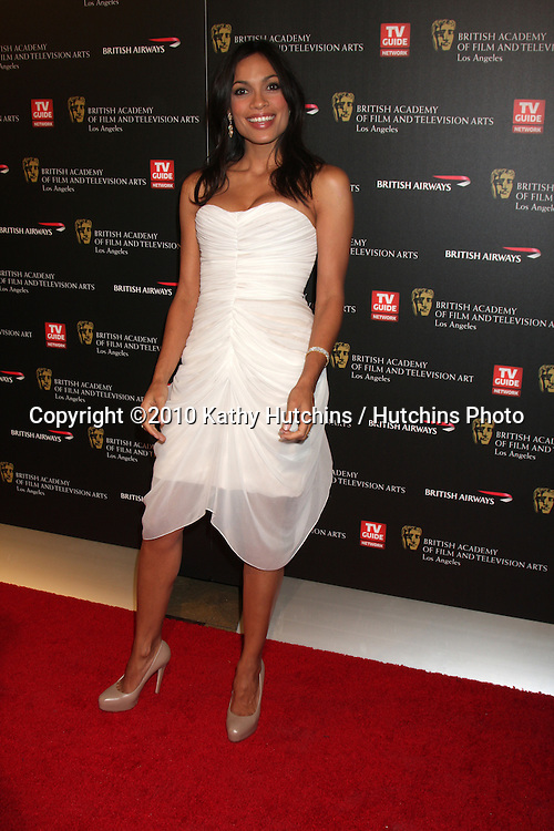 LOS ANGELES - NOV 4:  Rosario Dawson arrives at the 19th Annual BAFTA Los Angeles Britannia Awards at Hyatt Regency Century Plaza on November 4, 2010 in Century City, CA