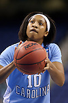 27 March 2015: North Carolina's Danielle Butts. The University of North Carolina Tar Heels played the University of South Carolina Gamecocks at the Greensboro Coliseum in Greensboro, North Carolina in a 2014-15 NCAA Division I Women's Basketball Tournament regional semifinal game. South Carolina won the game 67-65.