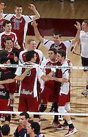 Stanford, CA; Saturday April 21, 2012: Men's Volleyball, Stanford vs Pepperdine (MPSF Tournament).
