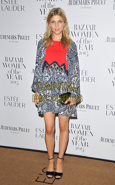 Clemence Poesy attends the Harper's Bazaar Women of the Year Awards 2015, Claridge's Hotel, Brook Street, London, England, UK, on Tuesday 03 November 2015. <br /> CAP/CAN<br /> &copy;Can Nguyen/Capital Pictures