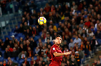 Roma's Lorenzo Pellegrini heads the ball during the Serie A football match between Roma and Bologna at Rome's Olympic stadium, October 28, 2017.<br /> UPDATE IMAGES PRESS/Riccardo De Luca