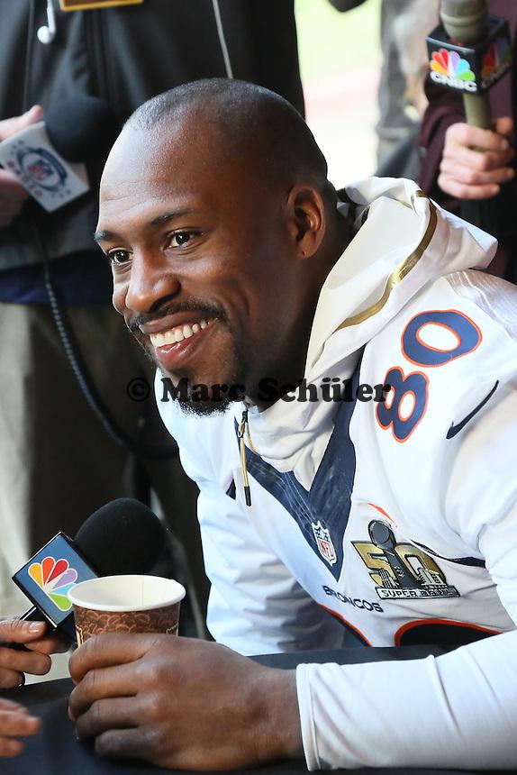 TE Vernon Davis (Broncos) - Super Bowl 50 Denver Broncos PK, Marriott Santa Clara