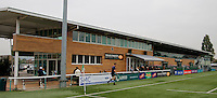 Ealing Trailfinders RFC's main stand during the Greene King IPA Championship match between Ealing Trailfinders and Bedford Blues at Castle Bar , West Ealing , England  on 29 October 2016. Photo by Carlton Myrie / PRiME Media