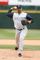 April 15th, 2007:  Vladimir Nunez of the Charlotte Knights, Class-AAA affiliate of the Chicago White Sox, during a game at Frontier Field in Rochester, NY.  Photo by:  Mike Janes/Four Seam Images