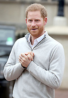 Prince Harry Announces Baby Boy News at Windsor Castle in Berkshire