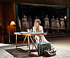 Medea<br /> by Euripides<br /> in a new version by Ben Power<br /> at The Olivier Theatre, NT, Southbank, London, Great Britain <br /> designed by Tom Scutt<br /> Directed by Carrie Cracknell<br /> Press photocall<br /> 7th July 2014 <br /> <br /> Helen McCrory as Medea<br />  <br /> Danny Sapani as Jason <br /> <br /> Michaela Coel as Nurse<br /> <br /> Dominic Rowan as Aegeus, King of Athens<br /> <br /> Martin Turner as Kreon, King of Corinth<br /> <br /> Toby Wharton as jason's attendant <br /> <br /> Clemmie Sveaas as Kreusa<br /> <br /> Photograph by Elliott Franks