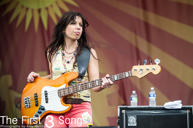 Casandra Faulconer of Cowboy Mouth performs during the New Orleans Jazz & Heritage Festival in New Orleans, LA.