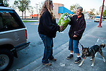 Susan Smith of Rivertown Cats and H.A.R.P. (Homeless Animal Response Program), of Antioch, California carries extra dog food in her car to give to people she meets while she is out feeding cats on Friday, March 21, 2014.  Photo/Victoria Sheridan