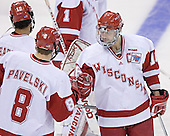Robbie Earl, Joe Pavelski, Adam Burish - The University of Wisconsin Badgers defeated the Boston College Eagles 2-1 on Saturday, April 8, 2006, at the Bradley Center in Milwaukee, Wisconsin in the 2006 Frozen Four Final to take the national Title.