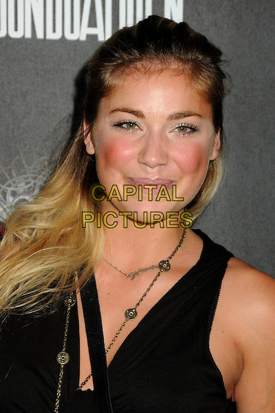 "SHOSHANA BUSH.""Guitar Hero: Warriors of Rock"" Launch Party held at Paramount Studios, Hollywood, California, USA..September 27th, 2010.headshot portrait gold necklaces blush blusher rouge cheeks make-up beauty black .CAP/ADM/BP.©Byron Purvis/AdMedia/Capital Pictures."