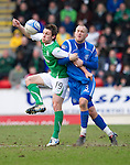 St Johnstone v Hibs....05.03.11 .Darryl Duffy and Danny Grainger.Picture by Graeme Hart..Copyright Perthshire Picture Agency.Tel: 01738 623350  Mobile: 07990 594431