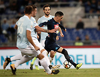 Calcio, Serie A: Roma, stadio Olimpico, 20 settembre 2017.<br /> Napoli's Jos&eacute; Maria Callejon (r) is going to score during the Italian Serie A football match between Lazio and Napoli at Rome's Olympic stadium, September 20, 2017.<br /> UPDATE IMAGES PRESS/Isabella Bonotto