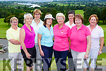 Noreen O'Meara, Paula O'Sullivan, Corinne Schnyder, Carmel Daly, Betty Griffin President, Jenny Pigott, Nancy Powell and Mary Gleeson at the Betty Griffin Presidents day in Killorglin Golf Course on Saturday