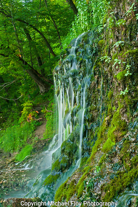 Malanaphy Springs Waterfall Upper Iowa River Access Area.