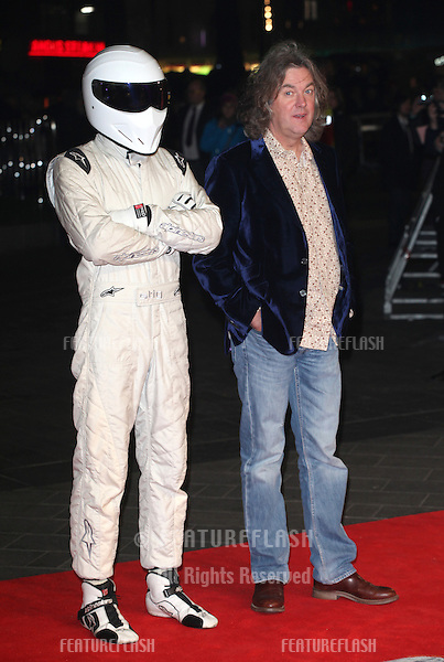 James May and The Stig arriving at the World Premiere of Jack Reacher, at Odeon Leicester Square, London. 10/12/2012 Picture by: Alexandra Glen / Featureflash