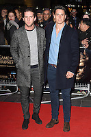 "Elliot Cross and Josh Patterson<br /> at the ""Game of Thrones Hardhome"" gala screening, Empire, Leicester Square London<br /> <br /> <br /> ©Ash Knotek  D3098 12/03/2016"