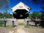 Porter Covered Bridge in  Parsonfield, Maine USA. This bridge crosses the Ossipee River.