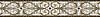 "7"" Alexander border, a hand-cut mosaic shown in polished Calacatta Tia, honed Gascogne Blue, Jura Grey, Jura Beige, and Montevideo by New Ravenna."