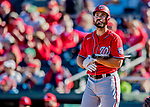 29 February 2020: Washington Nationals outfielder Mac Williamson in action during a Spring Training game against the St. Louis Cardinals at Roger Dean Stadium in Jupiter, Florida. The Cardinals defeated the Nationals 6-3 in Grapefruit League play. Mandatory Credit: Ed Wolfstein Photo *** RAW (NEF) Image File Available ***