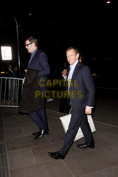 LONDON, ENGLAND - MARCH 18 : Richard Osman and Alexander Armstrong arrive at the RTS Programme Awards 2014 at Grosvenor House on March 18, 2014 in London, England.<br /> CAP/AH<br /> &copy;Adam Houghton/Capital Pictures