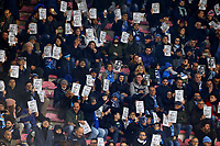 "Napoli supporters show pictures of Kalidou Koulibaly with the word ""we are all Kalidou"" . <br /> The player was victim of racist chants by Inter fans during the last matchday in Milano. <br /> Napoli 29-12-2018 Stadio San Paolo Football Serie A 2018/2019 Napoli - Bologna<br /> Foto Stringer / Insidefoto"
